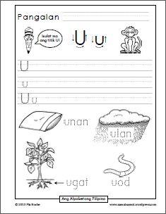 Titik_U Free Kindergarten Worksheets, Reading Worksheets, Kindergarten Reading, Tagalog Words, Alphabet Writing Practice, Phonics Sounds, English Worksheets For Kids, Cute Anime Coupes, Handwriting Worksheets