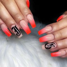 acrylic nails with initials / Nails Acrylic Nails Stiletto, Natural Acrylic Nails, Simple Acrylic Nails, Square Acrylic Nails, Almond Acrylic Nails, Summer Acrylic Nails, Acrylic Nail Designs, Coffin Nails, Aycrlic Nails