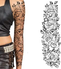 Mandala Tattoo Sleeve Women, Arm Sleeve Tattoos For Women, Full Leg Tattoos, Tattoos For Women Flowers, Girl Arm Tattoos, Leg Sleeve Tattoo, Full Sleeve Tattoos, Body Art Tattoos, Female Leg Tattoos