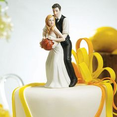 Make a slam dunk at your wedding via this Basketball Dream Team Bride and Groom Couple Sports Wedding Cake Topper. Perfect for the sports loving couple who loves a good game of basketball Basketball Couples, Basketball Wedding, Sports Wedding, Love And Basketball, Basketball Court, Basketball Boyfriend, Basketball Goals, Soccer Ball, Wedding Groom