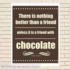 A Friend with Chocolate Charles Dickens by JaneAndCompanyDesign, $20.00