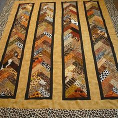 Hancock posted this great animal print quilt using the Braid in a Day technique. I offer this class at the Salisbury, MD hancock. Click the picture for class schedule. Strip Quilts, Patch Quilt, Scrappy Quilts, Easy Quilts, Quilting Projects, Quilting Designs, Quilting Ideas, Wildlife Quilts, Braid Quilt