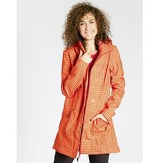 Blutsgeschwister wild weather long anorak - sunset check