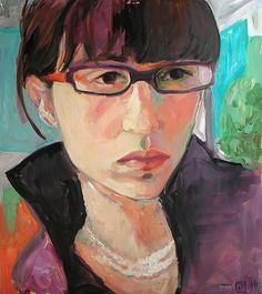 self portrait  by Jen Joaquin