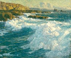 Edgar Alwin Payne. Laguna Coastline, 28 x 34 inches (1883 – 1947) Edgar A. Payne (March 1, 1883 – April 8, 1947), is known for paintings of the American West. He traveled extensively, painting in Europe, Mexico, Canada, and across the United States. In 1918, he made Laguna Beach his home and organized the Laguna Beach Art Association (becoming its first president), although he continued his painting trips.