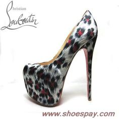 2013 Christian Louboutin 2012 Daffodil Pumps Leopard Print Red For Sale - 2013 Shoes Pay Online
