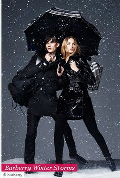 Looking good in a winter storm with Burberry. Might as well look cute when the rescuers find you.