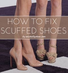 Next time you look down and see those dreaded marks, try one of these 3 easy fixes for scuffed shoes!