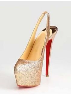 Heel Height Gold Sequin Paillette Red Bottom Shoes Highheels Must Have