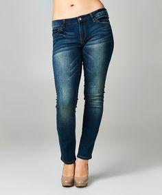 Dark Blue Skinny Jeans - Plus