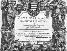 Title plate of The Distinguished Deeds of Alexander the Great by Antonio Tempesta of Florence, printed from copper plates, 1608