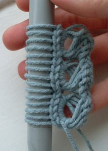 Crochet Broomstick Lace Make a bracelet, cuff bracelet, scarf etc ˜broomstick 20