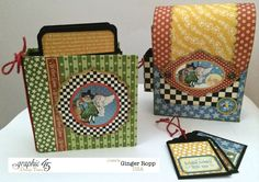 Graphic 45 Mother Goose Backpack and Mini Album