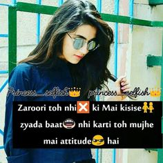 This is how I feel when anyone says I've got so much of attitude. Attitude Status Girls, Attitude Thoughts, Attitude Quotes For Girls, Crazy Girl Quotes, Girly Quotes, Crazy Girls, Girlish Diary, Caption For Girls, Motivational Lines