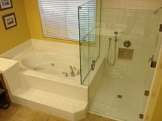 Accessible roll-in shower, wheelchair shower.