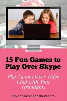 """Are conversations with your long distance grandchildren getting to be a bit stale? We have 15 fun games and activities that you can do with your long distance grandkids over Skype (or other video chat). You will have so much fun that neither of you will be able to wait until your next """"conversation!"""" #activitieswithgrandkids #adventuresinnanaland #buildingfamilyrelationships #longdistancegrandparents #longdistancegrandchildren #grandparenting"""