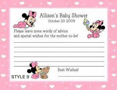 diy little minnie mouse baby shower custom request only, invitation samples
