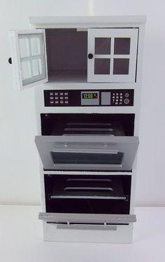Amazon.com: Dollhouse Miniature White Double Oven Cabinet: Toys & Games