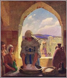 """""""The Parable of the Leaven,"""" illustration from """"The Parables of Jesus,"""" by S. Parkes Cadman (1931)"""