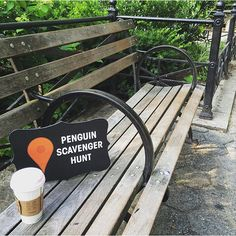 #Penguin80Sweepstakes Instagram #ScavengerHunt  Week 2, Clue 1:  All across Manhattan you can see this same view, as the city wakes up and grabs its morning brew.  Located downtown in amongst the green, there is a square where you can find this tranquil s