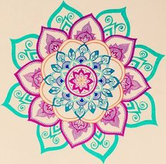 Mandala drawing by Felicia Heesen-This is so cute and colorful Mandala Doodle, Mandala Art, Mandala Design, Croquis Mandala, Art Doodle, Mandalas Drawing, Mandala Pattern, Zentangles, Tattoo Henna
