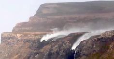 ISLE OF MULL Cottages captured the extraordinary footage of the upwards flowing waterfalls on the island's West Coast.