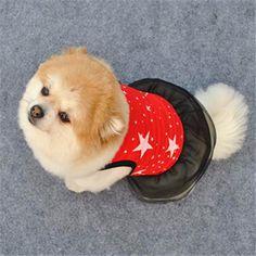 Habit chien/chat robe rouge étoiles - AliExpress (1,50€)