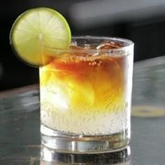 """Dark 'n' Stormy Cocktail 