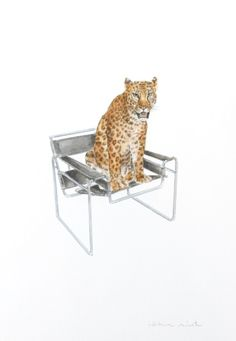 Leopard on a Wassily chair