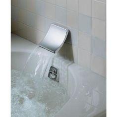 KOHLER Souris WallMount SheetFlow NonDiverter Bath Spout In - Wall mount bathtub faucet with diverter