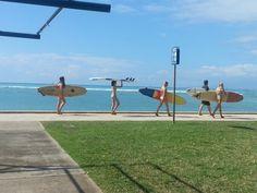 Ready for surfing #hawaii #surfing #oahu #waikiki #beach #sea #honolulu