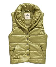 Another great find on #zulily! Green Olive Puffer Vest by TIMEOUT #zulilyfinds