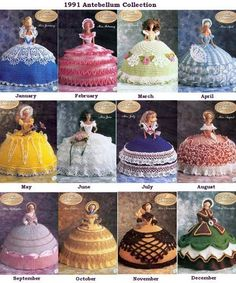 Barbie cakes. I had one for my fifth birthday.