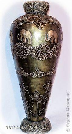 Здравствуйте! Я с новыми вазами. Мой МК по их изготовлению здесь: http://stranamasterov.ru/node/469021 фото 6