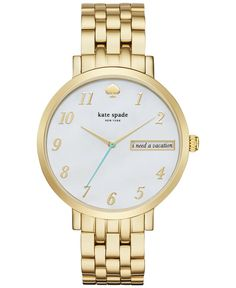 2f598eccc3229 kate spade new york Women s Monterey Gold-Tone Stainless Steel Bracelet  Watch 38mm KSW1106 Jewelry   Watches - Watches - Macy s