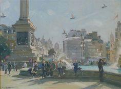 Midday Crowds, Trafalgar Square.David Curtis