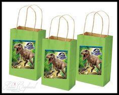 Jurassic World Birthday Party Supplies Decorations - Custom Party Favor Treat Sacks - 8 Guest Set