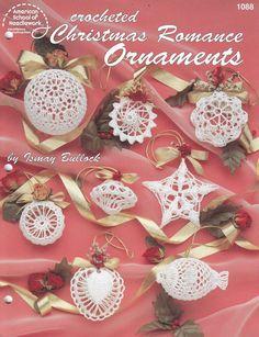 Christmas Romance Ornaments Crochet Patterns - Christmas Tree Ornaments