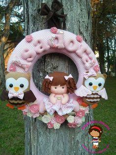 Atelie Dany Oliveira Felt Name Banner, Name Banners, Giraffe, Teddy Bear, Wreaths, Christmas Ornaments, Toys, Holiday Decor, Baby