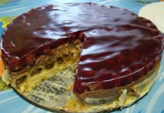 Pudingos-meggyes palacsintatorta Ital Food, Waffles, Pancakes, Meatloaf, Food And Drink, Pie, Sweets, Baking, Drinks