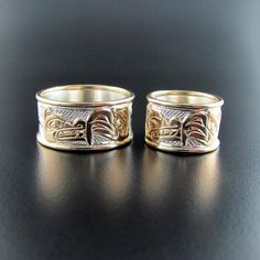 Native Wedding Bands or Engagement Rings by Carmen Goertzen by Carmen Goertzen, $800.00 : by Carmen Goertzen, Haida Native Artist