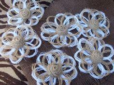 Burlap Christmas Tree Ornaments Set of 8 Rustic by resadavid