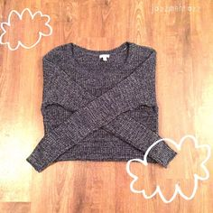 BP Sweater in Navy Blue Navy Woven Sweater-- Comfy and cute! Sized Medium.  Long with an extended back. Absolutely Love this one! bp Tops Sweatshirts & Hoodies