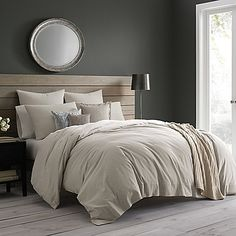 Sleep soundly in the soft and serene Wamsutta Vintage Cotton Cashmere Duvet Cover. Designed to create an ambiance of tranquility in your bedroom, this opulent duvet cover is made from a splendid cotton/cashmere blend to provide optimal comfort.