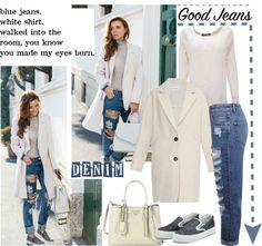 """""""Switch Up Your Denim Style for Spring"""" by helenevlacho on Polyvore"""
