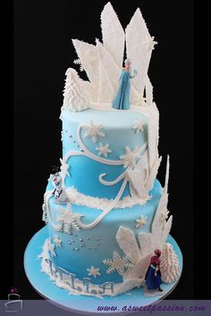 Best Picture of Frozen Birthday Cake Frozen Birthday Cake Frozen Birthday Cake Sweet Passion Cakery Frozen Birthday Party, Elsa Birthday Cake, Themed Birthday Cakes, Themed Cakes, Olaf Party, Elmo Birthday, Bolo Frozen, Tarta Frozen Disney, Elsa Frozen Cake