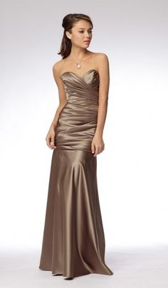 Watters and Watters Bridesmaid Dress.  Style 966. Duchess Satin in Stone Color.  Size 6 $50.00
