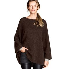 Fashion-Loose-Batwing-Sleeve-Knitted-Sweater-Casual-Poncho-