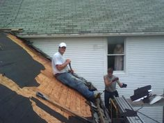 """""""Adam was working for a roofing outfit from Tremont, Illinois Koch Construction. He snapped this photograph with his camera phone.  The story he told me was that they were hired to roof the house by the new owners. According to him, the lady who lived there had passed away nearly three months before. They had been working on the house for two days and had seen no one there..."""