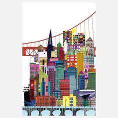 San Francisco And Minneapolis 2 by Jennifer Maravillas